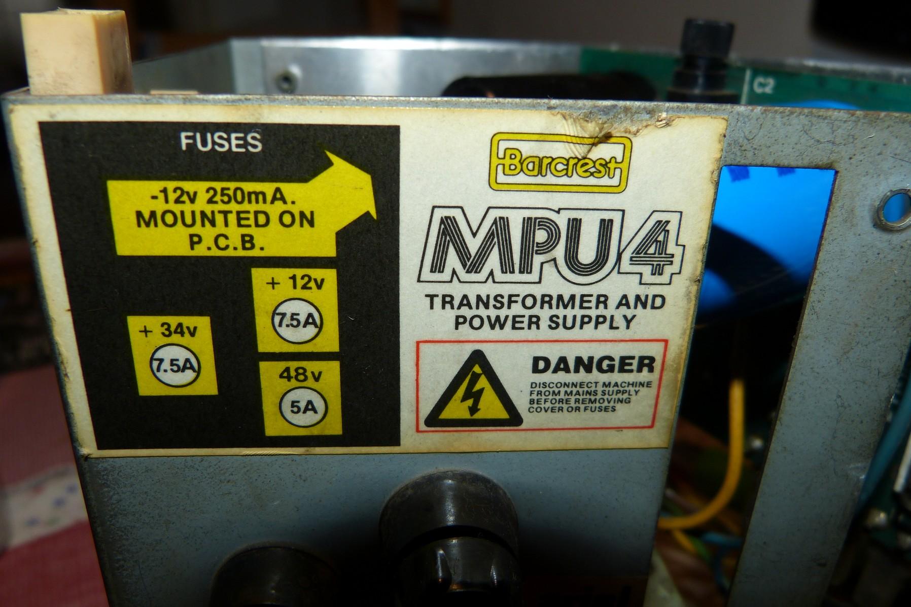 mpu4 power supply repair