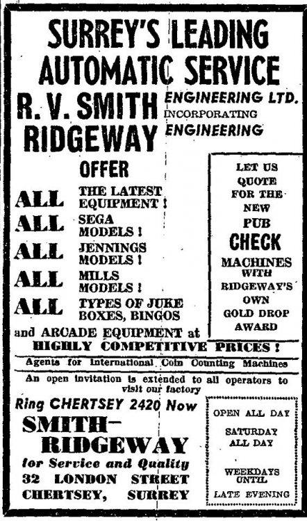 R V Smith advert from 1966.jpg
